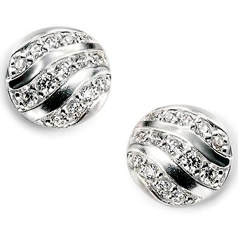 925 cyrkonia srebrny kolczyk Trend