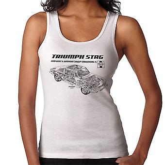 Haynes Workshop Manual 0441 Triumph Stag Black Women's Vest