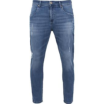 Urban classics skinny ripped stretch denim pants