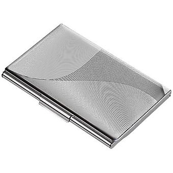 Troika Geometric Waves Business Card Case - Grey