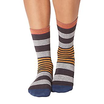 Irena women's super-soft bamboo crew socks in pewter   By Thought