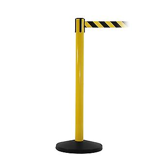 Yellow Safety Barrier Post - 3.4m Yellow-Black Belt