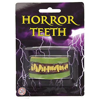Volwassenen Horror Zombie tanden Fangs Halloween Fancy Dress accessoire