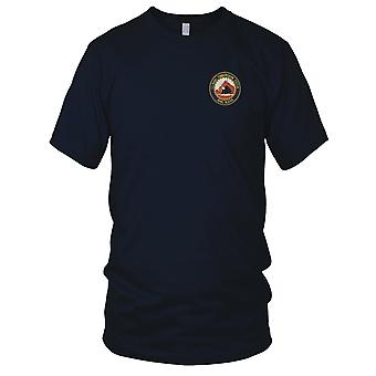 US Navy Naval Communication Station Adak Alaska Embroidered Patch - Mens T Shirt