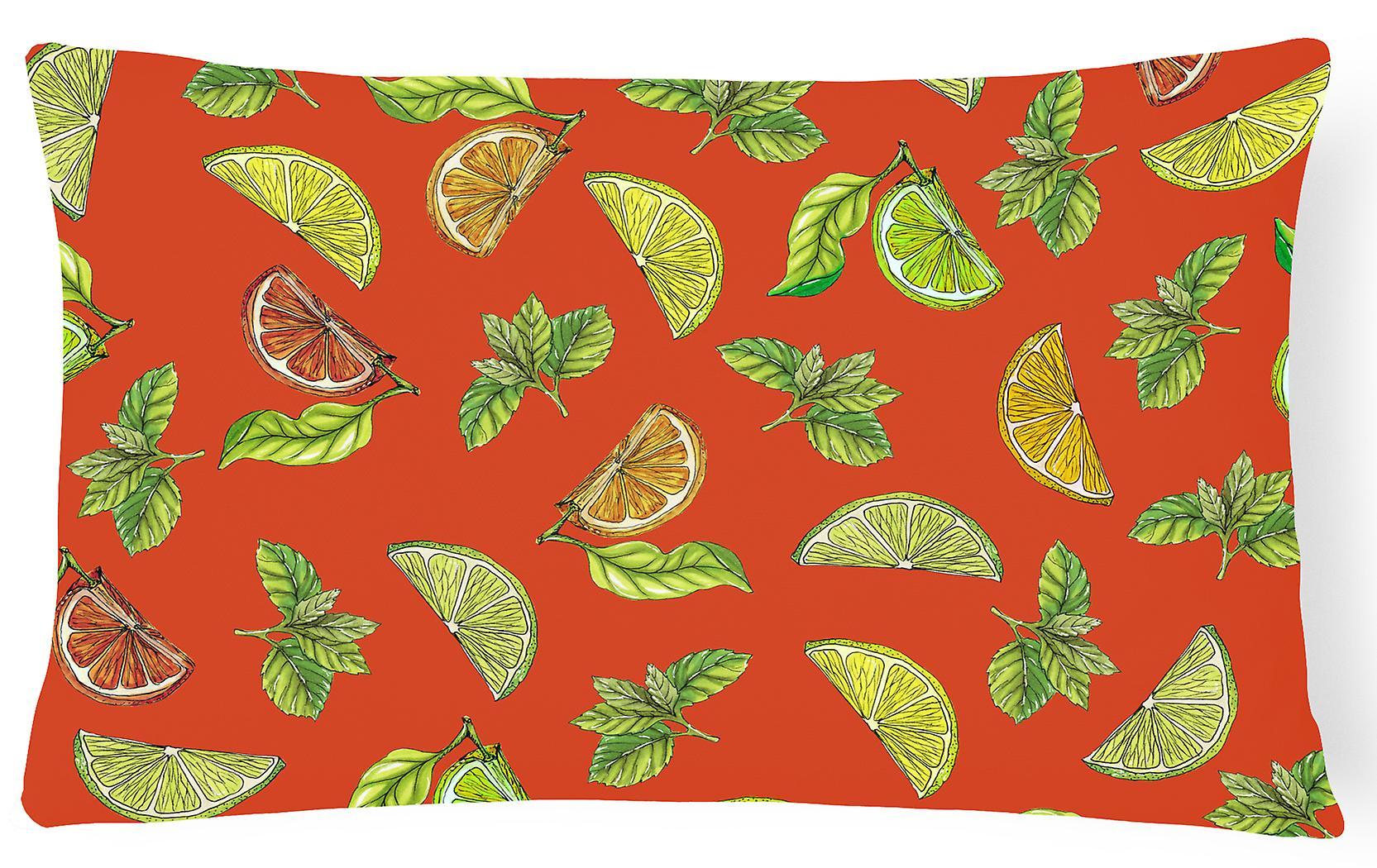 Tissu Et CitronsLimes Décoratif Toile Oreiller De Oranges Flc3uKJT1
