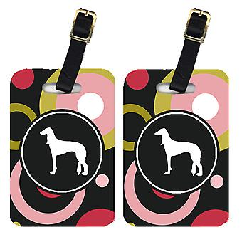 Carolines Treasures  KJ1146BT Pair of 2 Saluki Luggage Tags