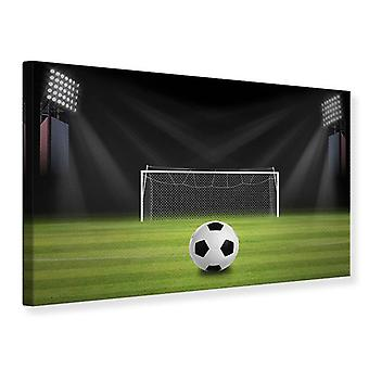 Lærred Print fodbold mål