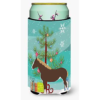 Percheron Horse Christmas Tall Boy Beverage Insulator Hugger