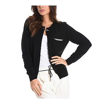 Fay women's NMWC1356440OTNB999 black Wool Cardigan