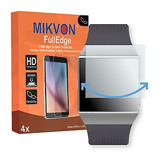 Fitbit Ionic screen protector - Mikvon FullEdge (screen protector with full protection and custom fit for the curved display)