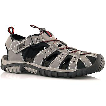 Boys Kids New Touch Fastening Lightweight Closed Toe Sandals Shoes