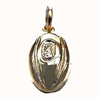 9ct Gold 17x10mm Rugby Ball Pendant or Charm