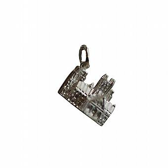 Silber 12x17mm Lincoln Kathedrale Anhänger oder Charm