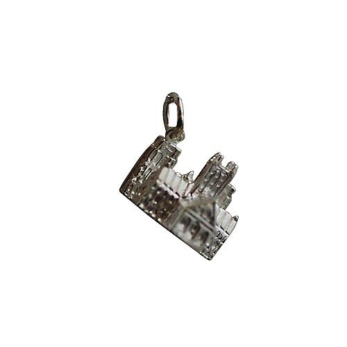 Silver 12x17mm Lincoln cathedral Pendant or Charm