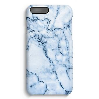 iPhone 7 Plus Full Print-Fall - blau Marmor