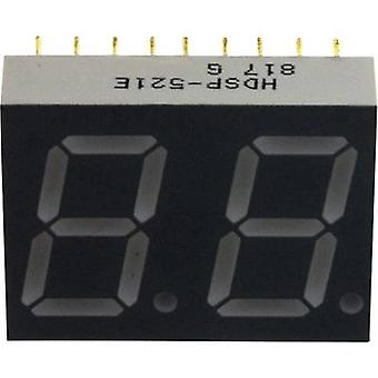 Seven-segment display Red 14.22 mm 2.05 V No. of digits: 2
