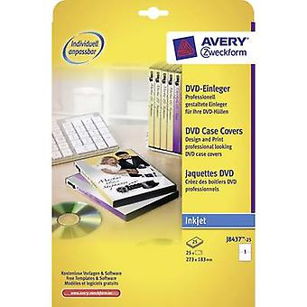 Avery-Zweckform DVD case cover J8437-25 (W x H) 273 mm x 183 mm