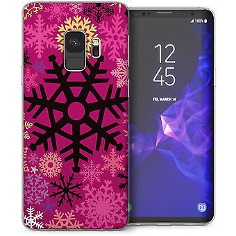Samsung Галактика S9 Рождество снежинки гель ТПУ – розовый