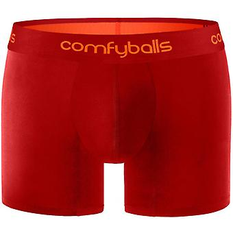 Comfyballs Performance Long Boxers - Lipstick Red/Tangerine
