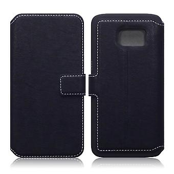 Qubits Galaxy S7 Low Profile PU Leather Wallet Case-Black