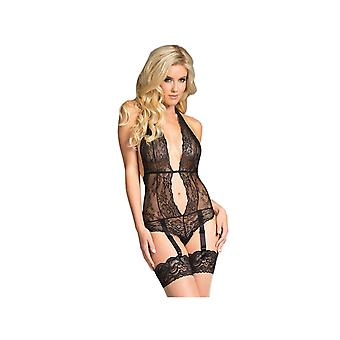 Be Wicked  BW1638 Semi-Sheer Lace Bodysuit