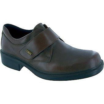 Cotswold Mens Cleeve Leather Waterproof Casual Oxford Shoe Brown