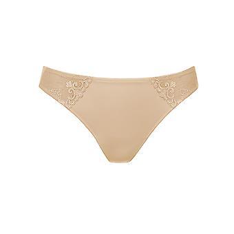 Rosa Faia 1338-753 Women's Grazia Desert Nude Embroidered Panty Thong
