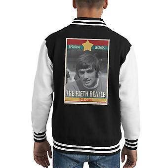 Sporting Legends Poster Ireland George Best The Fifth Beatle 1946 To 2005 Kid's Varsity Jacket