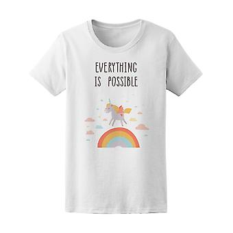Everything Is Possible, Unicorn Tee Women's -Image by Shutterstock