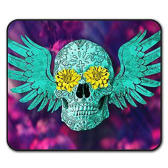 Skull Face Painted  Non-Slip Mouse Mat Pad 24cm x 20cm   Wellcoda