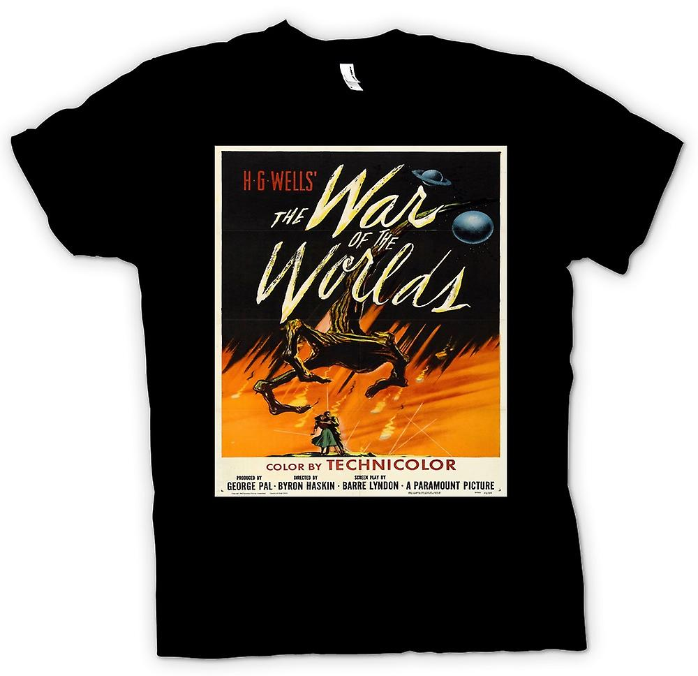 Womens T-shirt - War Of The Worlds - H G Wells - Poster