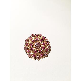 Gold and blush Pink Brooch
