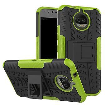 Hybrid Case 2teilig Outdoor Grün für Motorola Moto G5S Tasche Hülle Cover