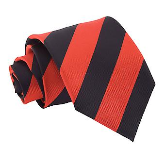 Red & Black Striped Classic Tie