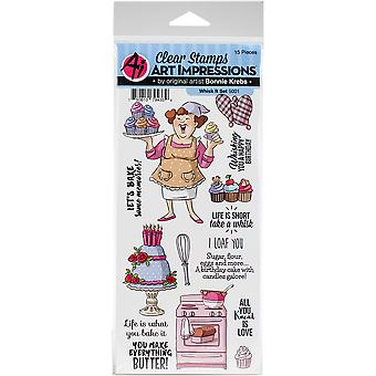 Art Impressions Work & Play Clear Stamps-Whisk It