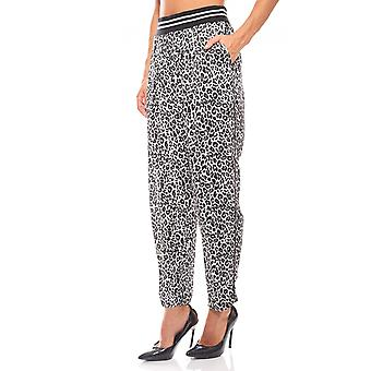 Fornarina the animal-print chiffon pants women black