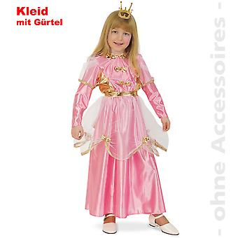 Princess costume kids pink princess dress Queen child costume