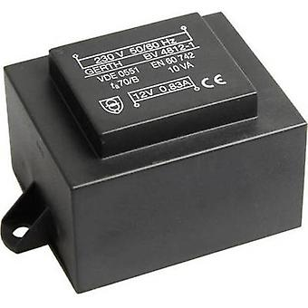 PCB マウント変圧器 1 x 230 V 2 x 18 V AC 10 VA 277 mA PT483602F Gerth