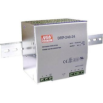 Rail mounted PSU (DIN) Mean Well DRP-240-24 24 Vdc 10 A 240 W 1 x
