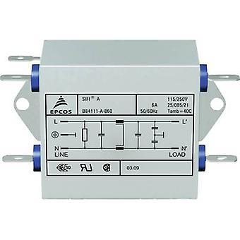 Epcos B84111AB60 EMI filter flame retardant 250 V AC 6 A 1.8 mH (L x W x H) 45 x 76.5 x 28.6 mm 1 pc(s)