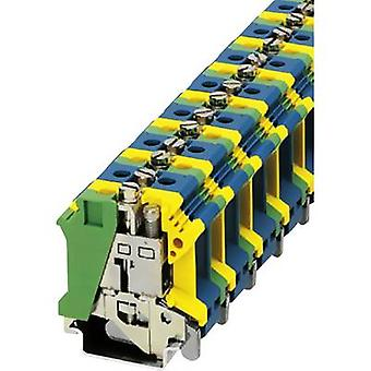 PE/N feed-through terminal block UIK 16-PE/N Phoenix Contact Green-yello