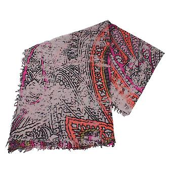 Fraas Wool Scarf - Brown/Purple/Orange