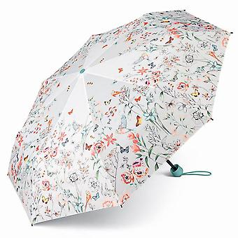 Esprit Super Mini Flowers Birds Regenschirm Umbrella Taschenschirm