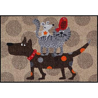 Salon lion animal tour mat 50 x 75 cm lavable tapis de sol