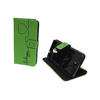 Mobile phone case pochette pour mobile WIKO Tommy être heureux vert