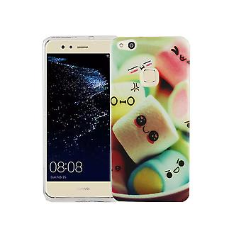 Mobile Shell for Huawei P10 Lite cover case protective bag motif slim TPU + armor protection glass 9 H lettering marshmallows