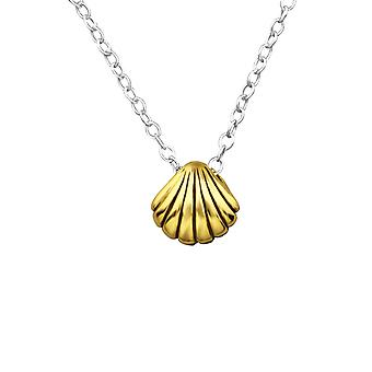 Shell - 925 Sterling Silver Plain Necklaces - W27812x