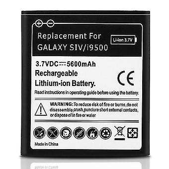 Battery for Samsung Galaxy S4, 5600 mAh Replacement Battery + Housing - Black