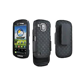 OEM Verizon Rubberized Hard Shell Case w/ Holster for Samsung Continuum SCH-i400