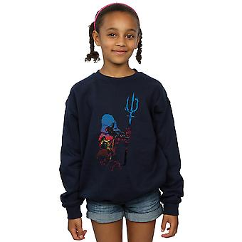 DC Comics Girls Aquaman Battle Silhouette Sweatshirt